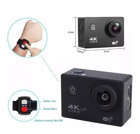Câmera Sport Barata 4k Hd Wi-fi Controle Remoto 1080p- 60fps