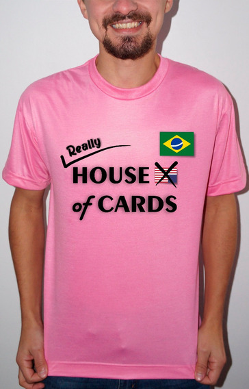 Camiseta Ou Baby Look House Of Cards Brasil