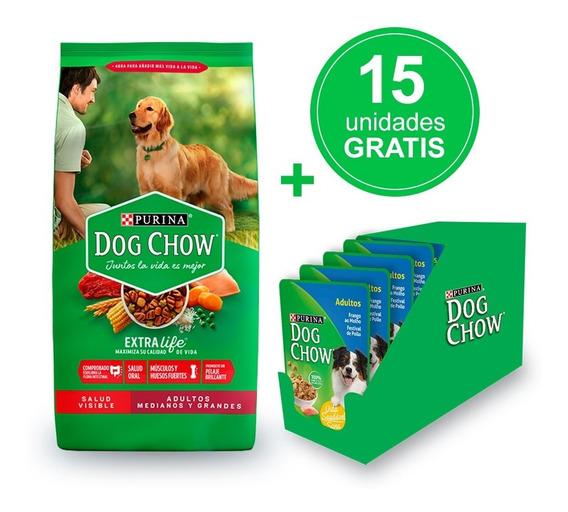 Dog Chow® Adulto Med Y Grandes 21kg + Alimento Húmedo Gratis