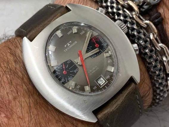 Technos Chronograph Valjoux 7733 17 Rubis Incabloc Vintage