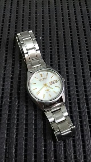 Relógio Citizen Automático Antigo Analógico Em Aço Perfeito