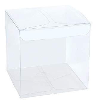100 Caixas Acetato 10x10x10 Para Artesanatos E Uso Em Geral