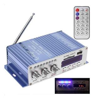 Amplificador Potencia Digital 20w 12v Control Sd Usb Fm
