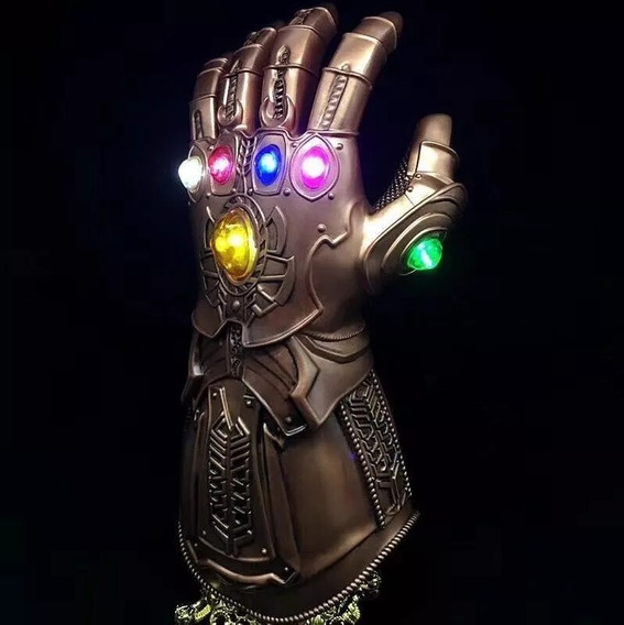 Luva Manopla Do Poder Avengers Thanos Led Pronta Entrega