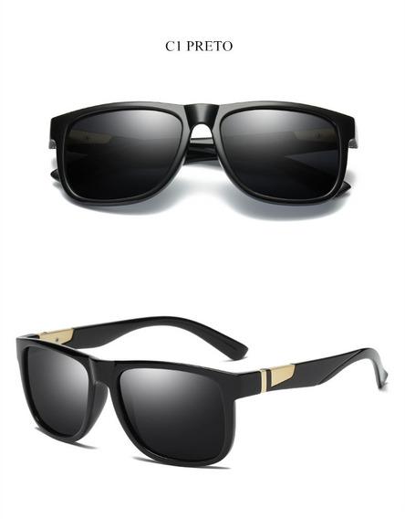 Oculos Solar Yooske Masculino Polarizado Proteção Uv- Black