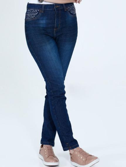 Calça Fem Jeans Skinny Com Aplicações Div. Modelos Ref. D2a!