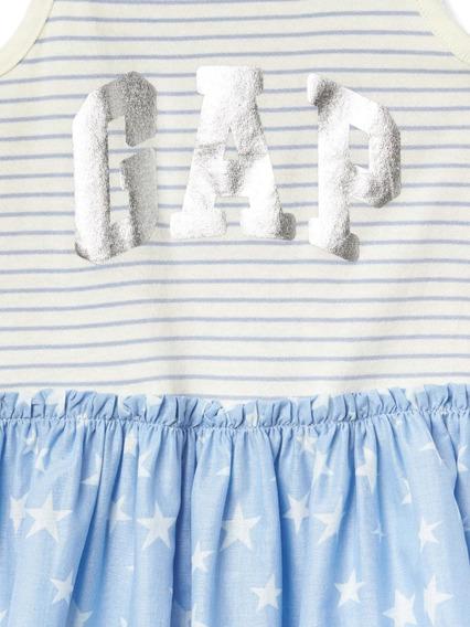 Vestido Gap Baby Listrado Com Estrelas 0-3 Meses