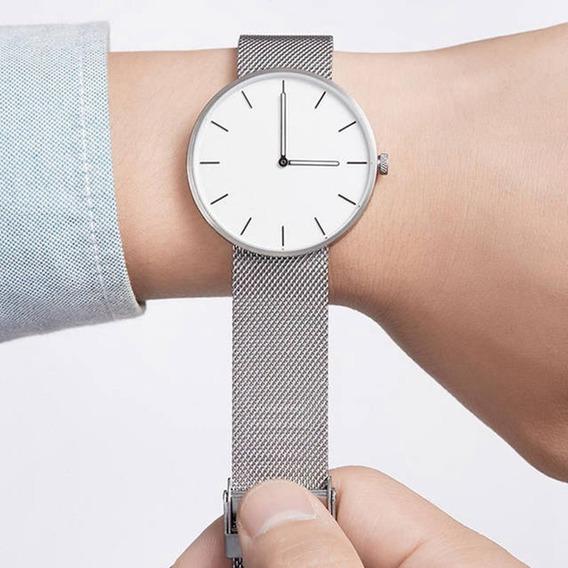 Moda Quartzo Homens Relógio De Pulso De Aço Inoxidável Pulse