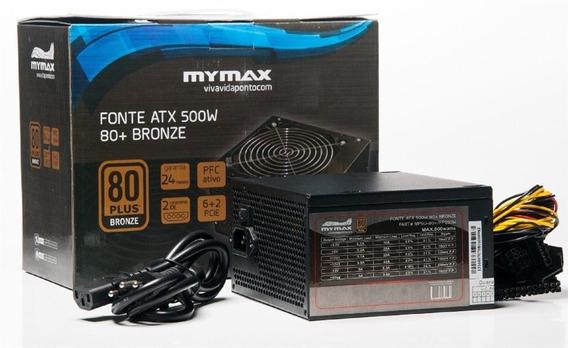 Fonte Atx 500w 80 Plus Bronze - Mymax