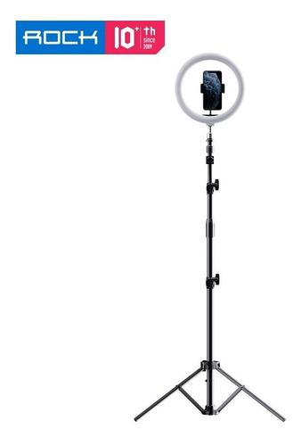 Ring Light Com Tripé De Chão/mesa E Controle Bluetooth Rock