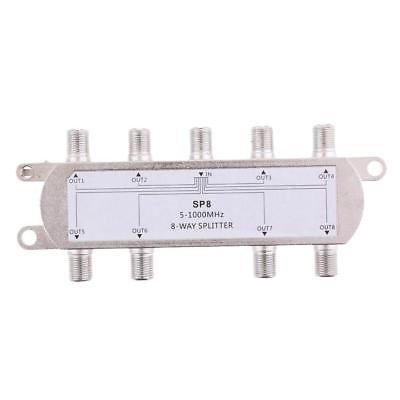 18x Divisor Coaxial F Rosca 1x8 Antena Tv A Cabo 1 In 8 Out