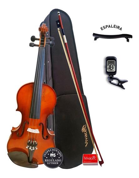 Violino Acústico 4/4 Be44 Vivace Kit + Afinador + Espaleira