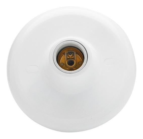 Plafonier Branco Com Bocal De Louça E-27 Kit 10