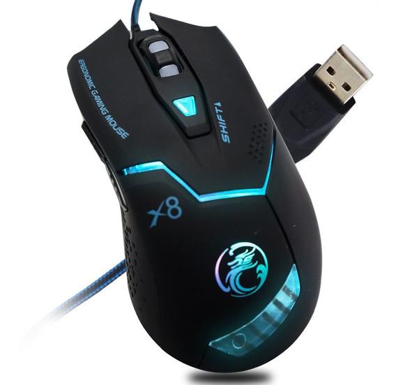 Mouse Gamer Laser 6 Botões 2400 Dpi Alta Precisão X8 Promo