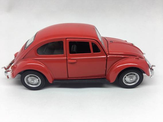Fusca Miniatura Metal Ano 1967 Escala1/32 Original Vermelho