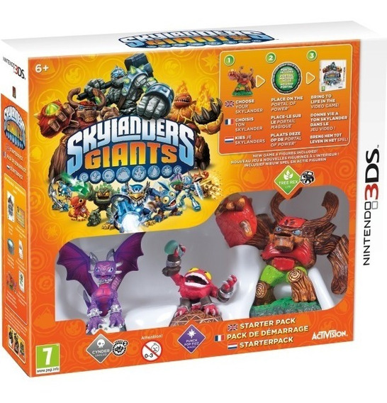 3ds - Skylanders Giants - Starter Pack Novo Lacrado