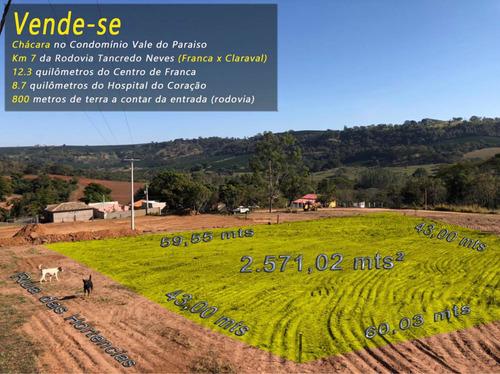 Imagem 1 de 6 de Chácara (franca - Claraval) Rod. Tancredo Neves Km7