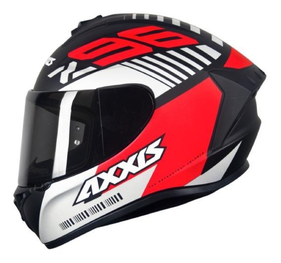 Capacete Masculino Axxis Draken Z96 Preto Fosco Vermelho