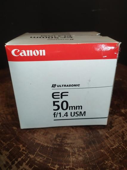 Lente Canon 50mm 1.4 Ef + Parasol