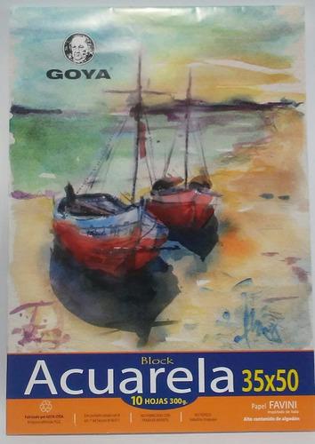 Block Para Acuarela 1/4w 300grs 10 Hojas Goya
