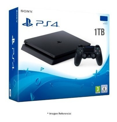 Consola Sony Play Station 4 Slim Ps4 1terra 1000gb Color Neg