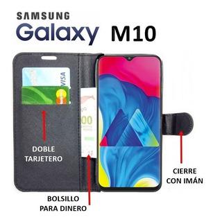 Funda Con Tapa Estilo Billetera Samsung Galaxy M10 Rosario