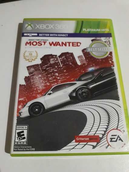 Need For Speed Most Wanted Xbox 360 Mídia Física