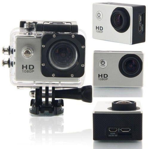 Câmera Filmadora Sports Hd Dv 1080p Prata