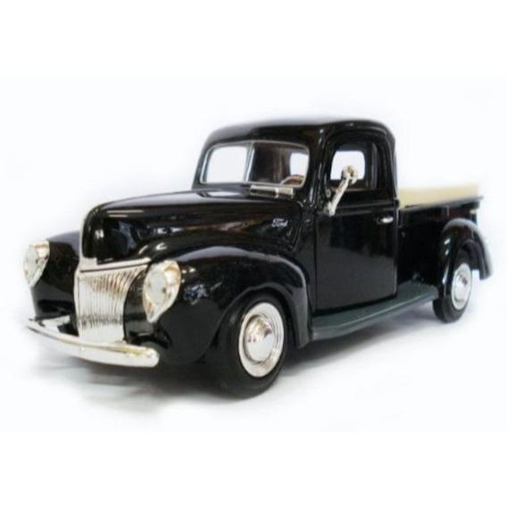 Miniatura Pickup Ford 1940 Preta Motormax 1:24
