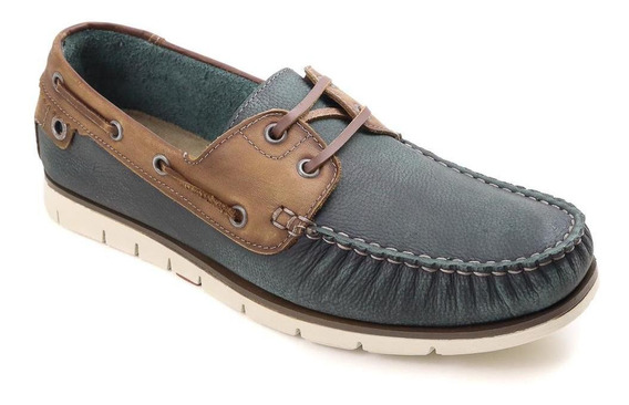 Sapato Mocassim Democrata Denim Easy