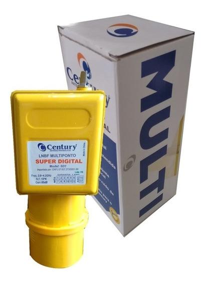 Kit Com 4 Lnbf Super Digital Century Multiponto Banda C