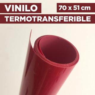 Vinilo Termotransferible Flex Color Rojo 70 X 51 Cm