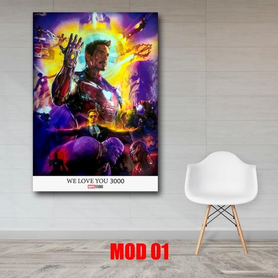 I Am Iron Man Cuadro Decorativo En Lienzo Avengers Endgame