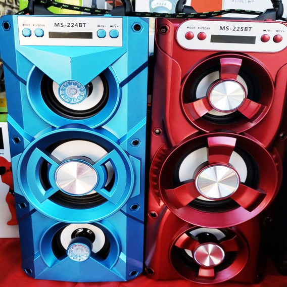 Caixa De Som Portátil Bluetooth Amplificada 3 Auto-falantes