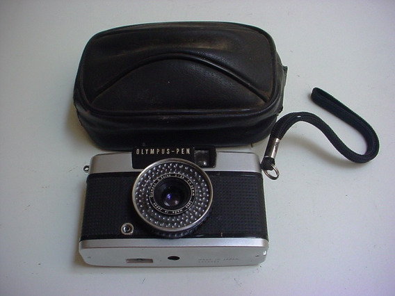 Antiga Câmera Olumpus - Pen Com Estojo De Zipper !!!