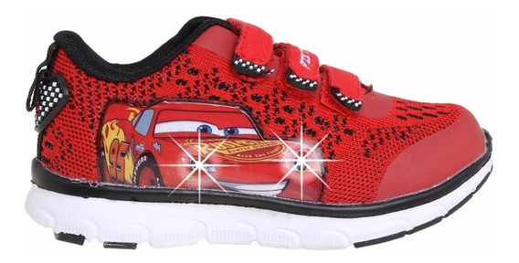 Zapatillas Disney Cars Con Luces Addnice Flex Mundo Manias