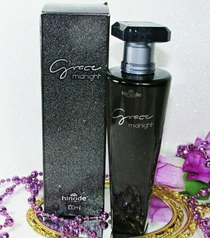 Perfume Grace Midnight - Hinode 100ml Original + Brinde