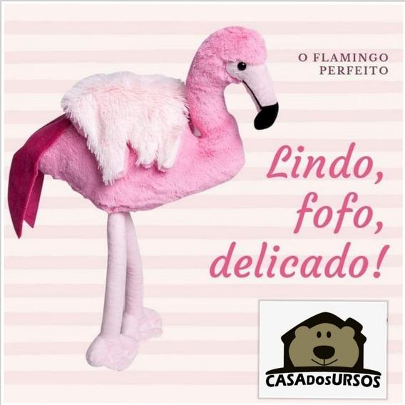 Lindo Flamingo Rosa De Peúcia Grande Gigante 100cm 1 Metro