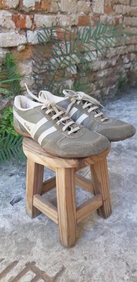 Zapatillas Gola Chester Color Habano/crudo Talle 42