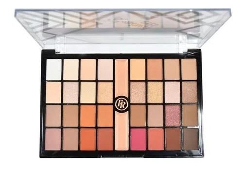 Maquiagem Kit De Sombras Ruby Rose 32 Cores + 2 Primer