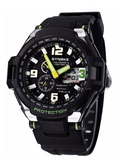 Relógio Masculino Esportivo Digital Analógico Synoke Top