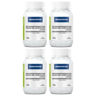 Óleo De Cártamo + Cromo - 4x 120 Cápsulas - Newnutrition