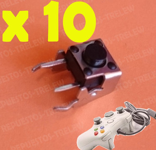 Boton X 10 Unidades Lb Rb Joystick Xbox 360 - Repuesto