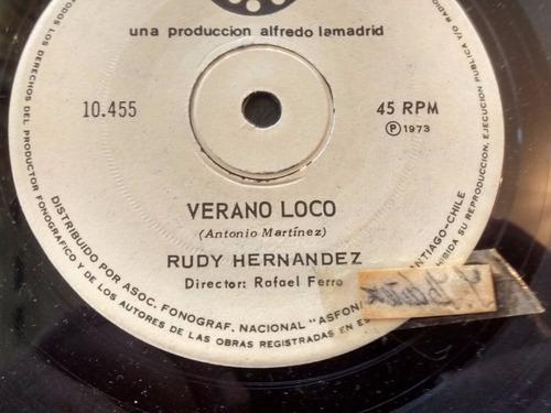Vinilo Single De Rudy Hernandez - Verano Loco ( J98