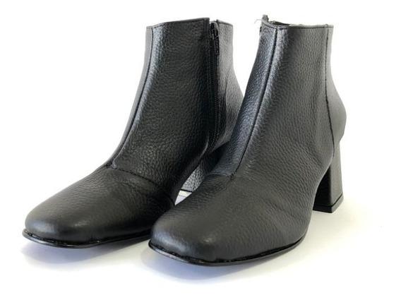 Zapato Botas Botinetas Mujer Invierno Taco Eco Cuero Nuevas