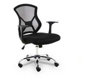 Cadeira Executiva Telada Preta C/descanso P/braço - By-2034