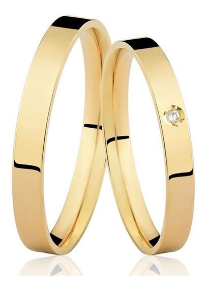 Alianças Casamento Ouro 18k 3mm 3,5 Gramas Em Promoção