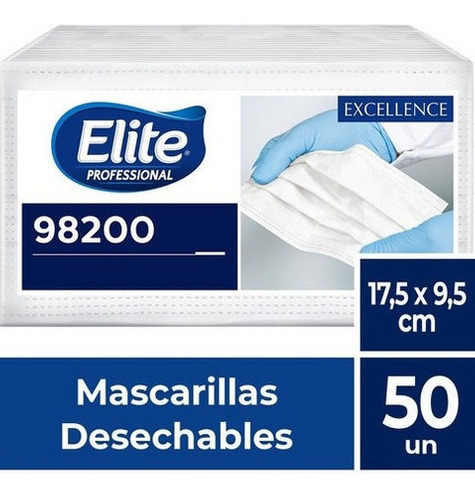 Mascarilla Desechable 50u Elite Professional