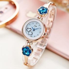 Relógio Feminino C/ Pedra Strass /pulseira Dourada/ Promoção