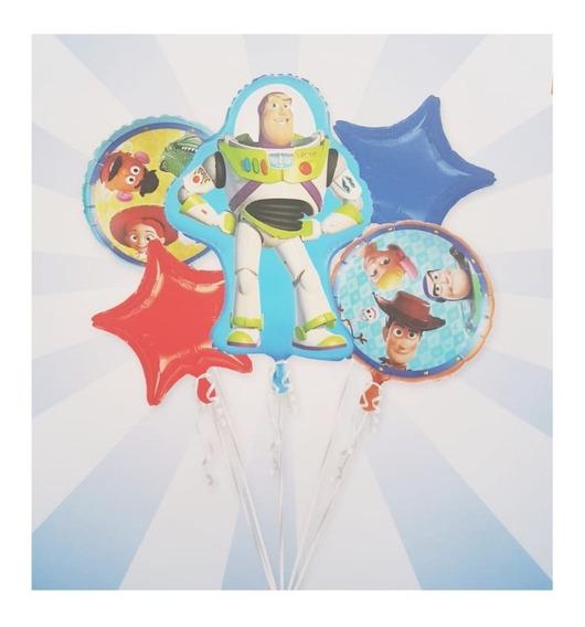 2 Set X 5 Globos Toy Story + Globo Woody Y Jessie